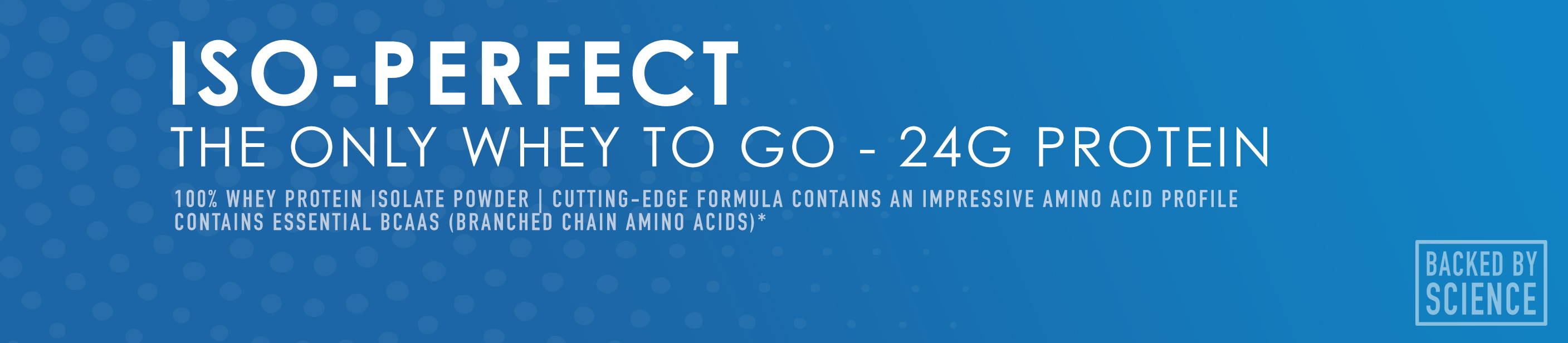 ISO-Perfect - The only whey to go 24g protein - NuEthix