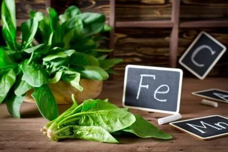 Spinaci alimento ricco di ferro