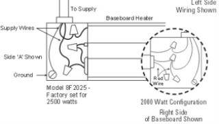 for 2000 watt applications: connect the remaining supply wire to the  remaining black wire  leave the red wire disconnected and cap loose end  with an