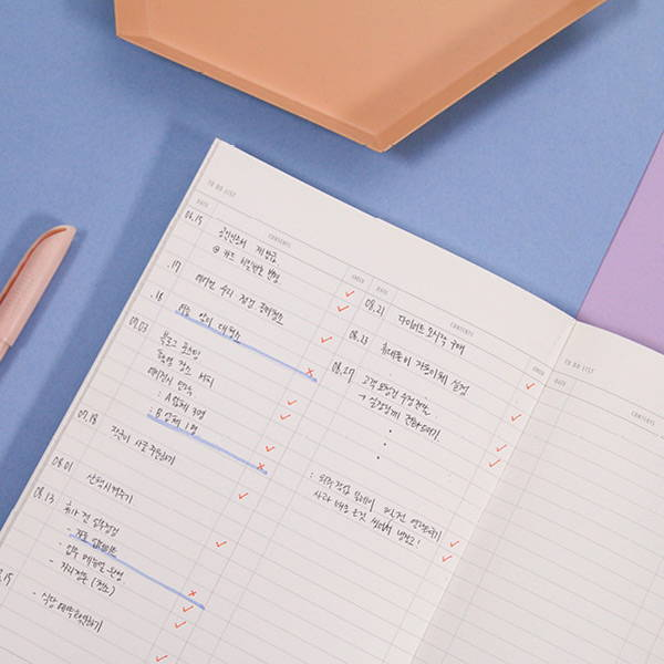 To do list - Second Mansion The Moments dateless weekly diary planner