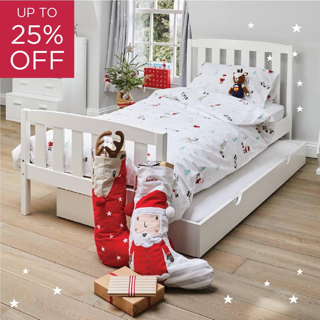 kids' christmas bedding