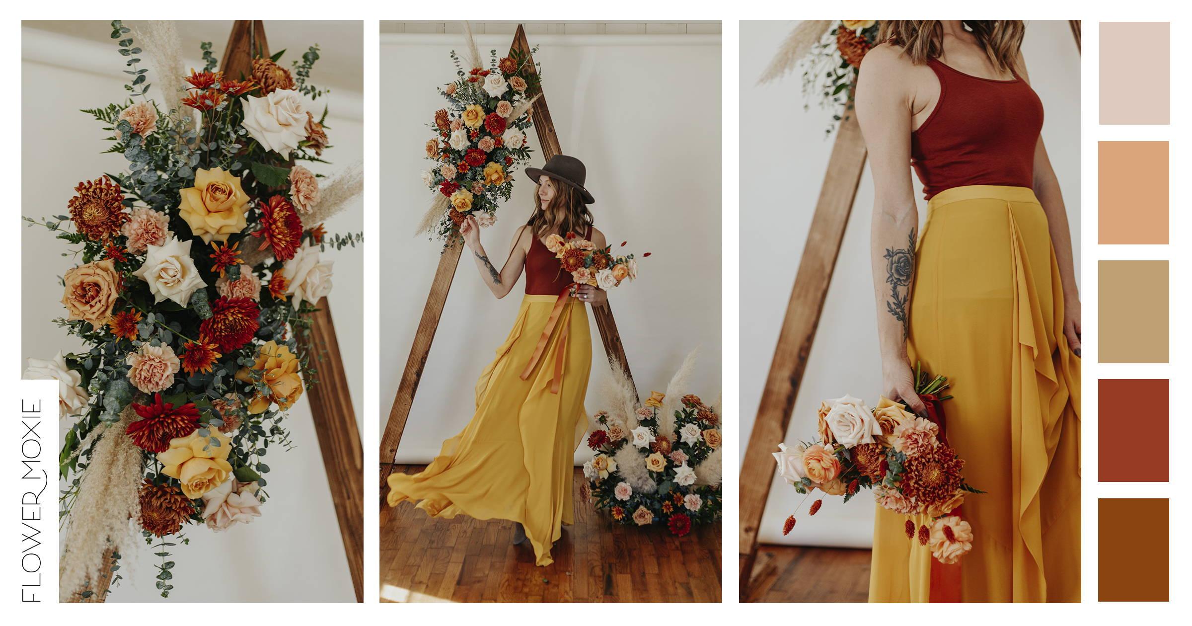 terracotta wedding flower packages diy