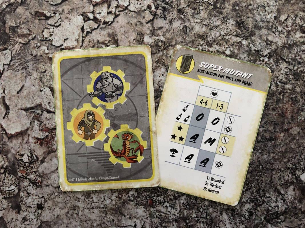 A sample Super Mutant AI card