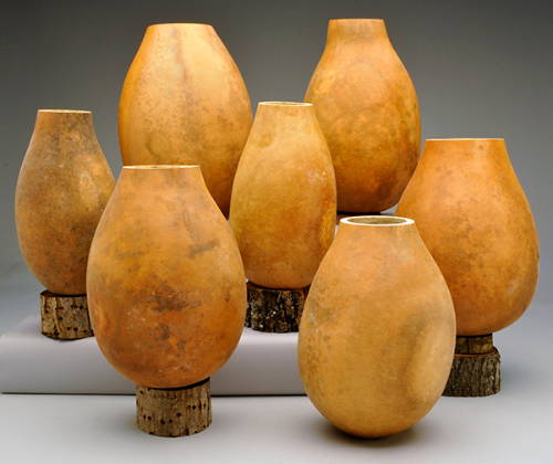'Bargain Quality' Craft-Ready Tall Body Gourd Vases