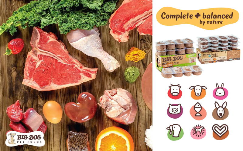 Big dog biologically appropriate raw frozen dog food and raw frozen cat food mobile banner