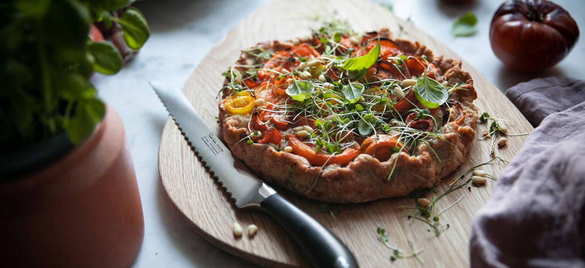 Tomato & Red Onion Tart