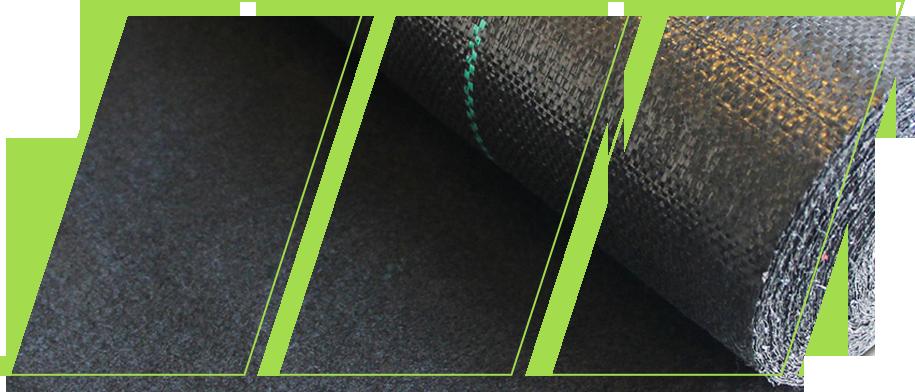 Closeup image of the landscape fabric