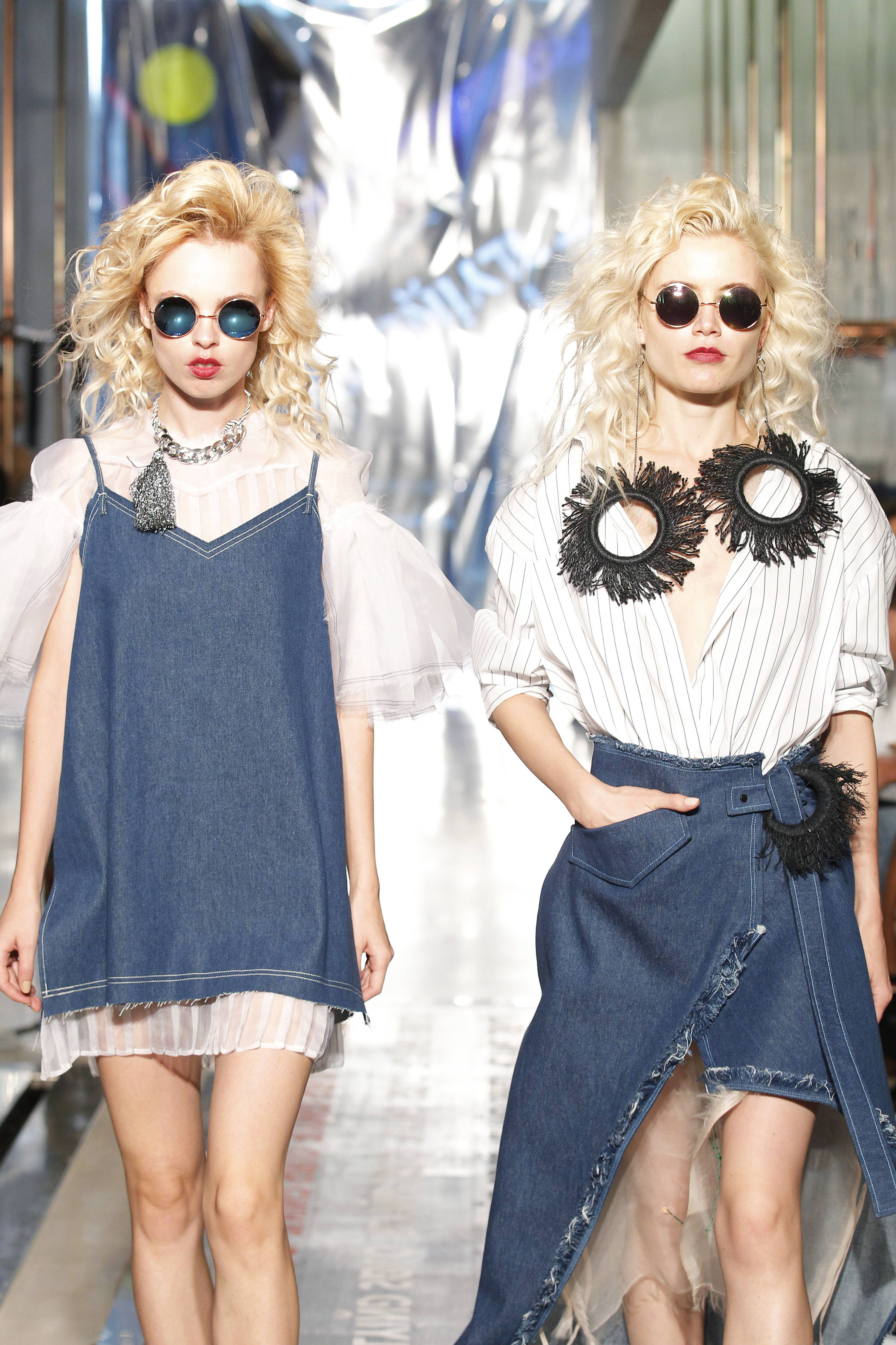 Flying Solo Independent Designers New York City Boutique New York Fashion Week Runway Denim and White
