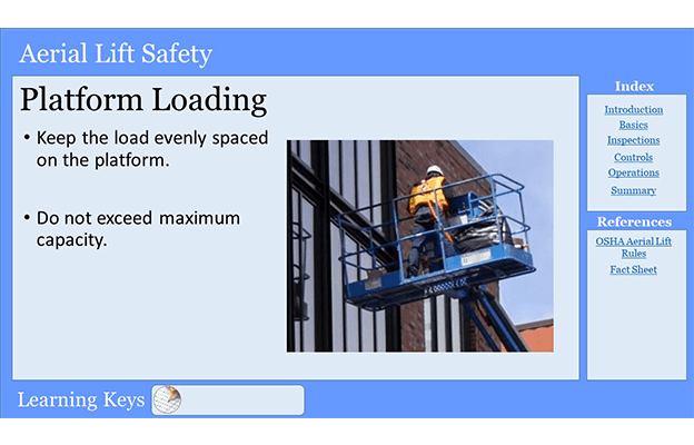 Aerial Lift Training PowerPoint Platform Loading