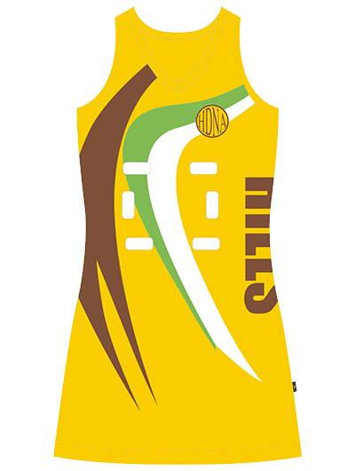Valour's custom NanoFuse netball dress designed for HDNA's elite netball players