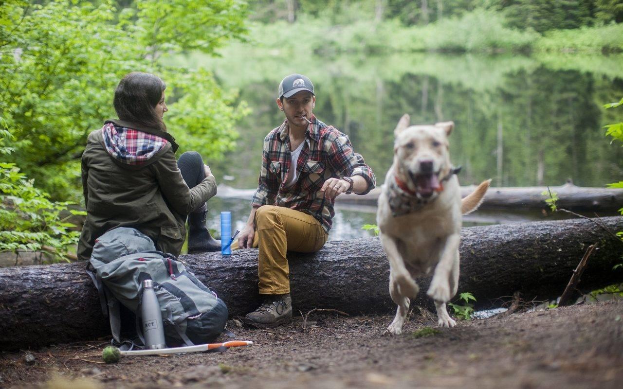 420 Dog on the Hiking Trails - DopeBoo