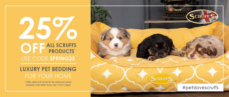 25% off Scruffs Bedding in April 2020