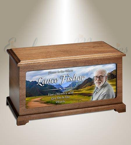 Through The Mountains Photo Cremation Urn
