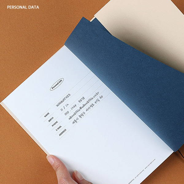 Personal data - Wanna This Omnibus dateless weekly diary planner