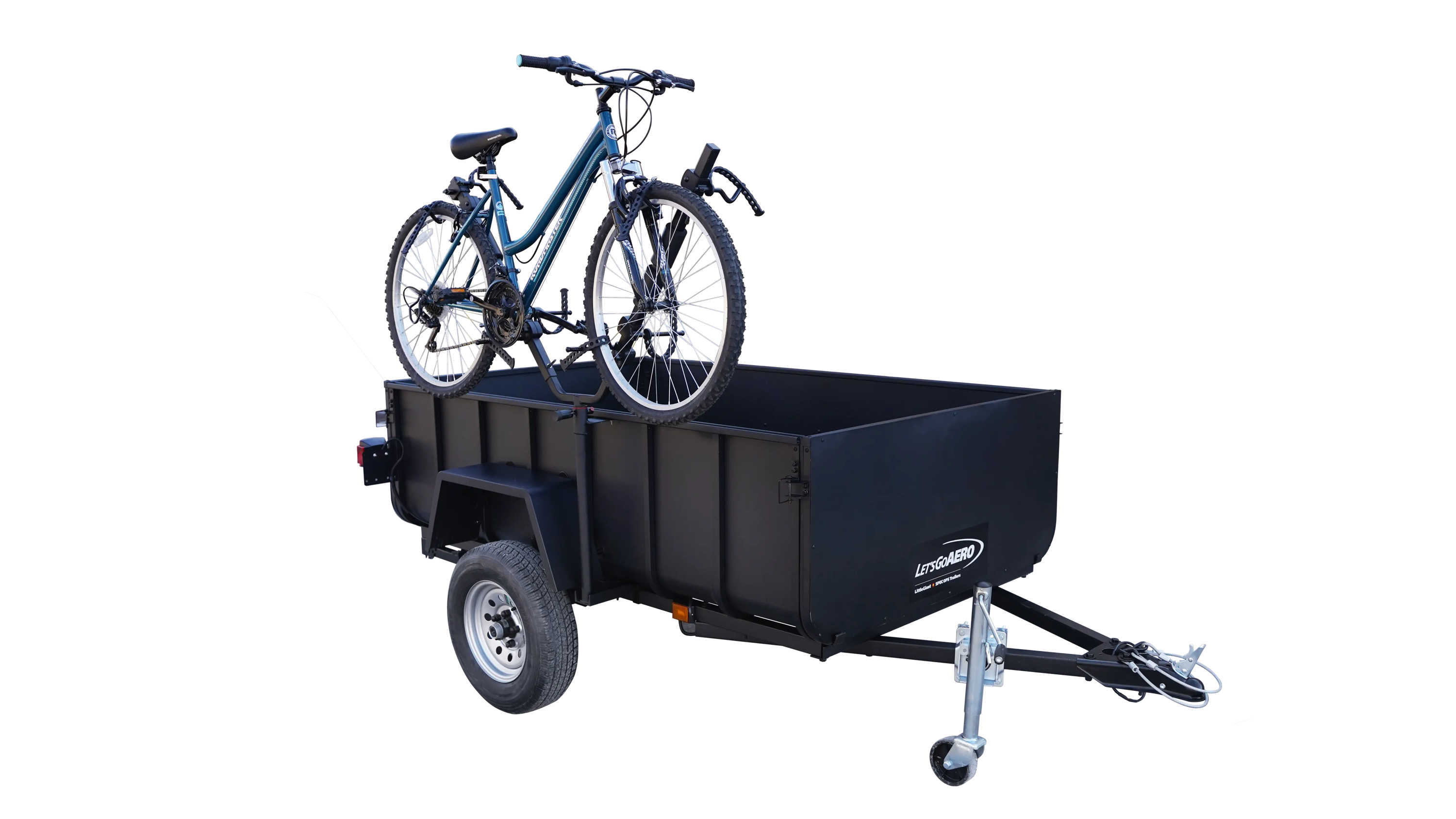 2-bike side mounted carrier for LittleGiant Trailers