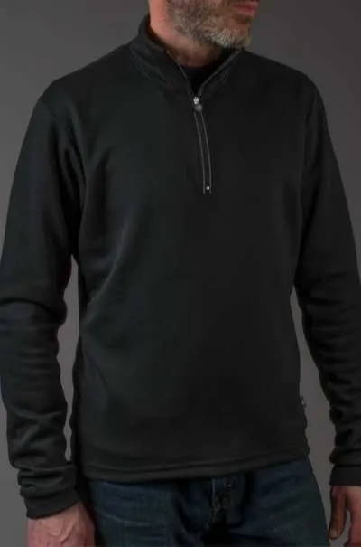 merino wool pullover model front