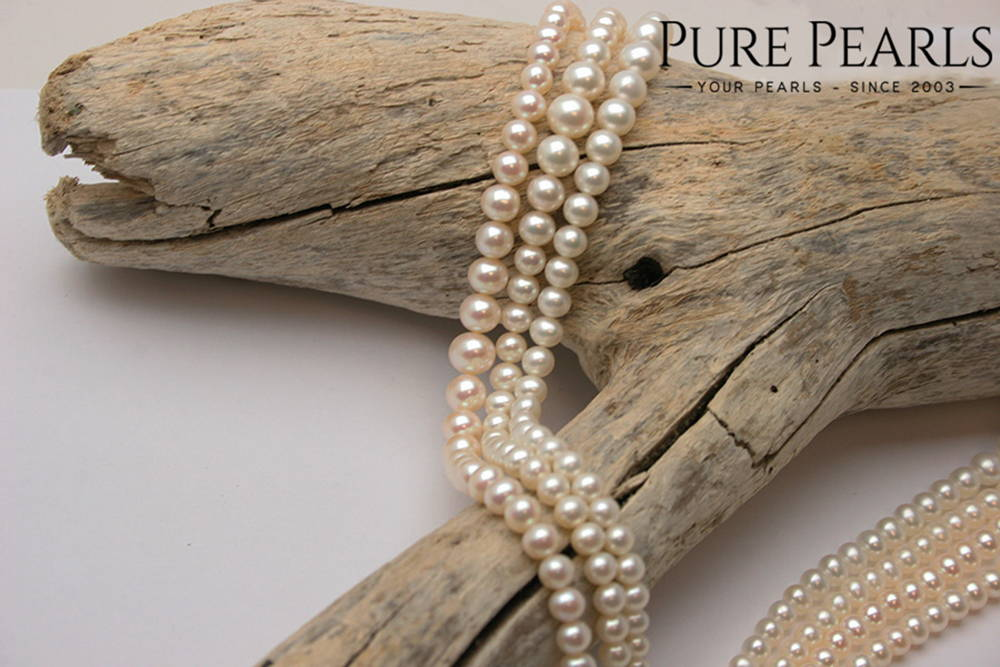 Freshwater Pearls are not as valuable as saltwater Akoya