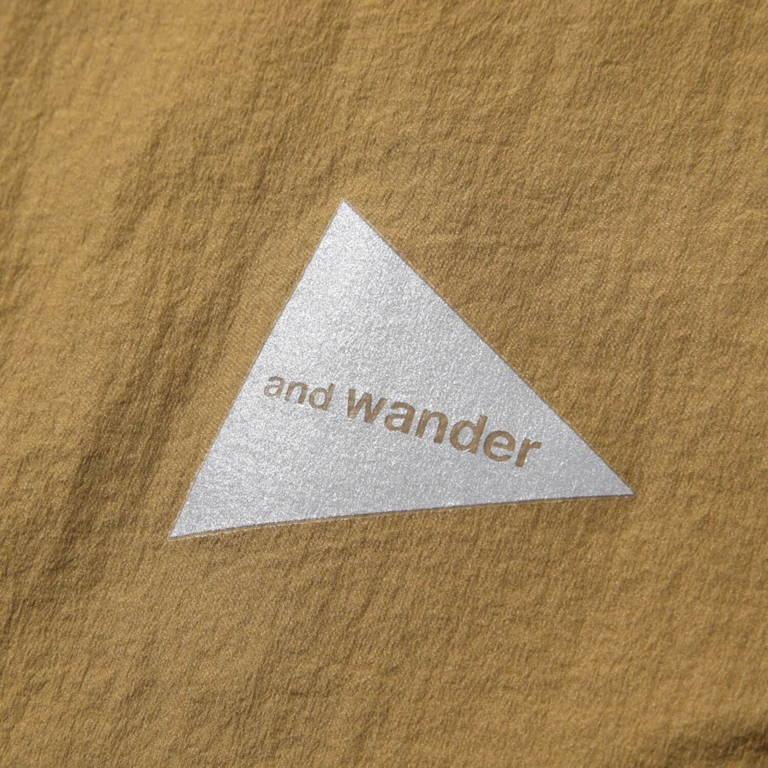 andwander(アンドワンダー)/アルファダイレクトフーディ/ブラック/UNISEX