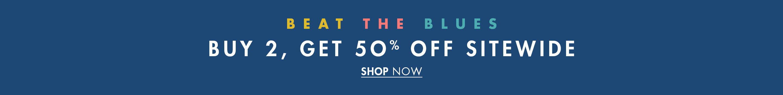 Buy 2 Get 50% Off Sitewide