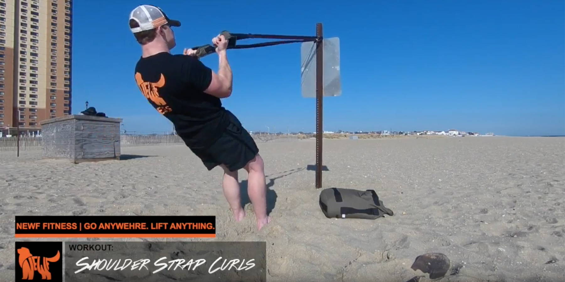 NEWF Bag Strap Curls Exercise