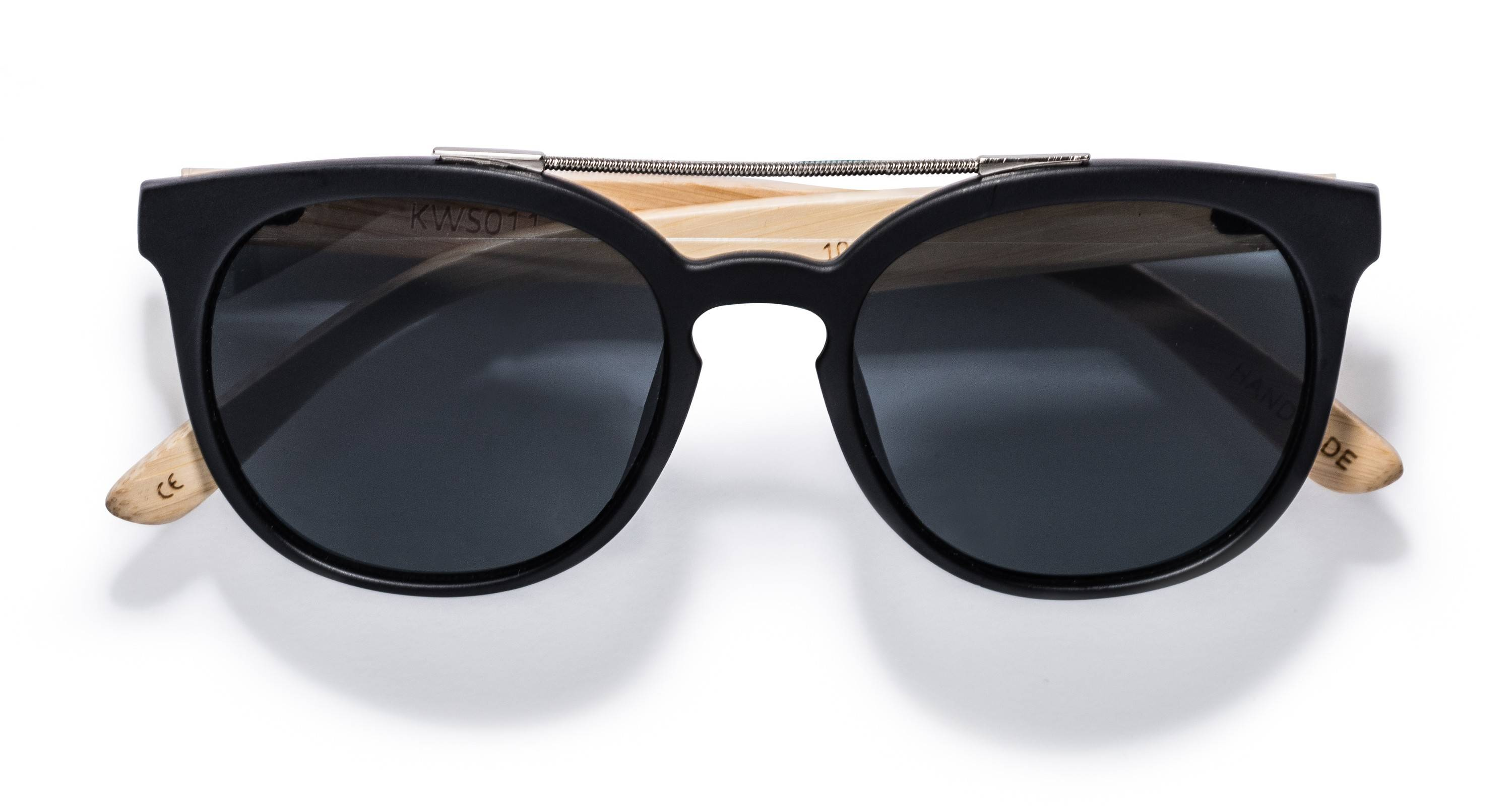 Kraywoods Sienna, Double Bridge Sunglasses made from Bamboo wood with 100% UV Protection Lenses