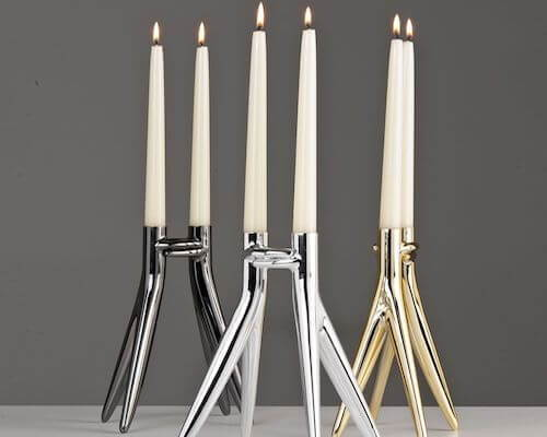Contemporary candle holders from Kartell.