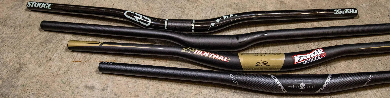 MTB Handlebar Collection Image CRD Stooge Carbon Mountain Bike Handlebar OneUp Components Carbon Bar Renthal Fatbar Carbon Raceface Aefect Handlebar
