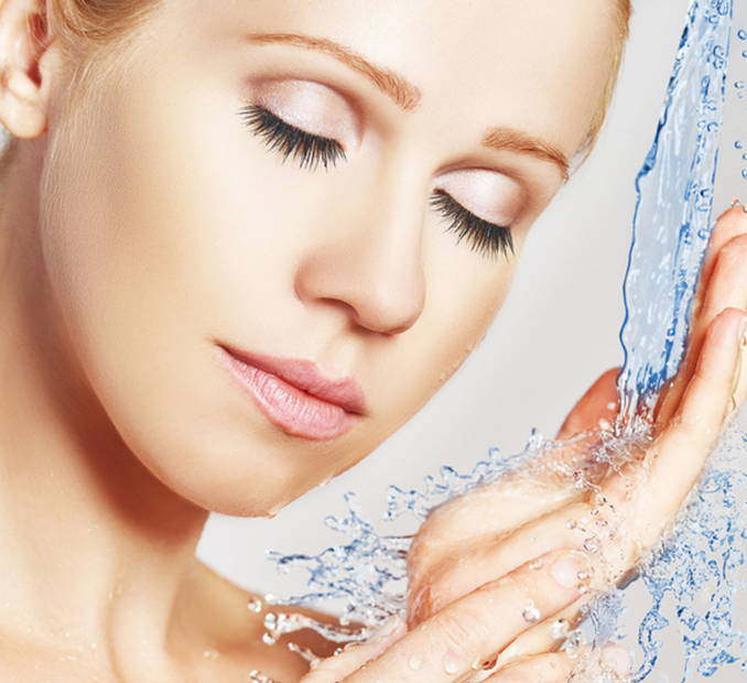 laver la peau du visage