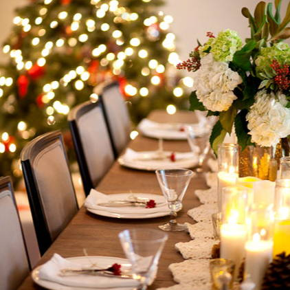 Strange Dressing Your Christmas Table Using Table Lights Home Interior And Landscaping Eliaenasavecom