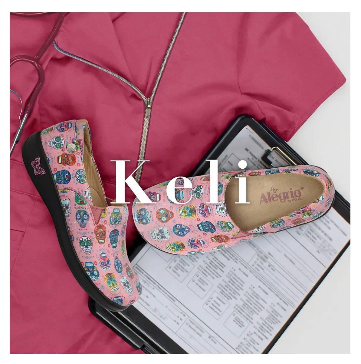 Alegria Keli professional collection - in Sugar Skulls Pink