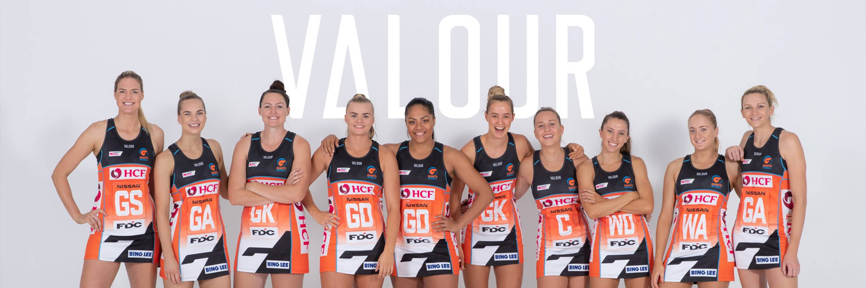 Valour Sport is the offical sportswear and merchandise partner to GIANTS Netball