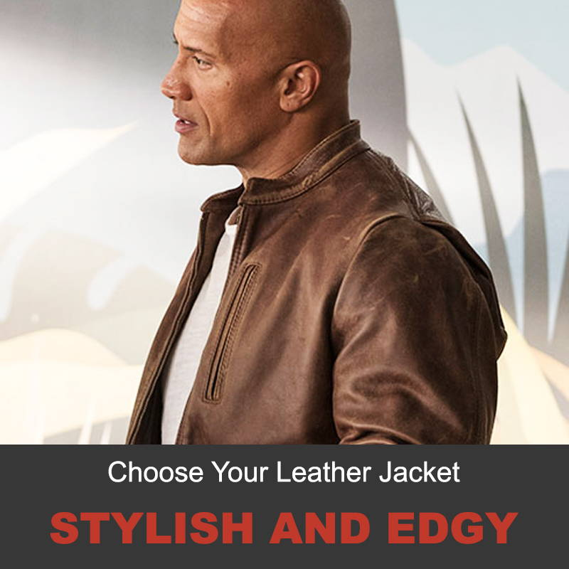 Stylish and edgy leather jacket