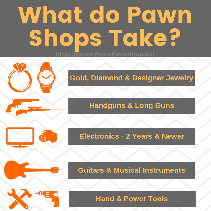 what do pawn shops take - Plano Pawn Shop describes