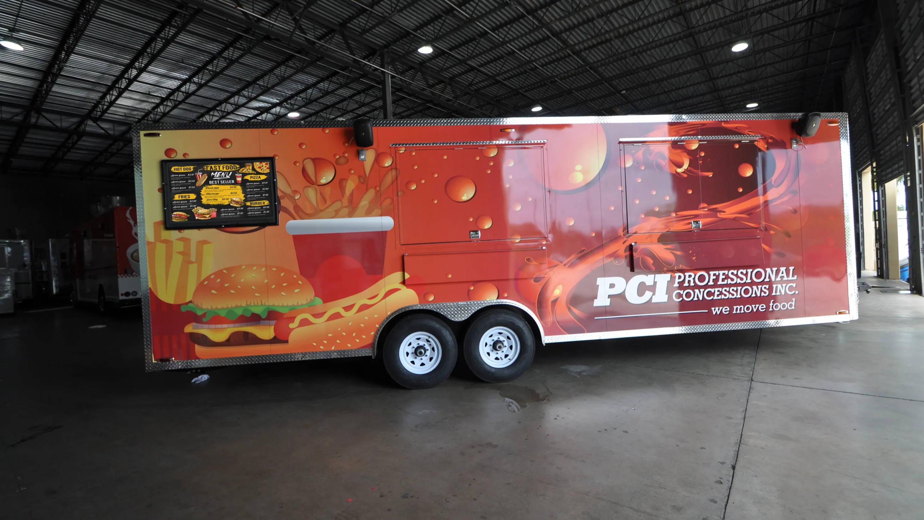 The Display Shield® Food Truck Digital Menu Board Installation