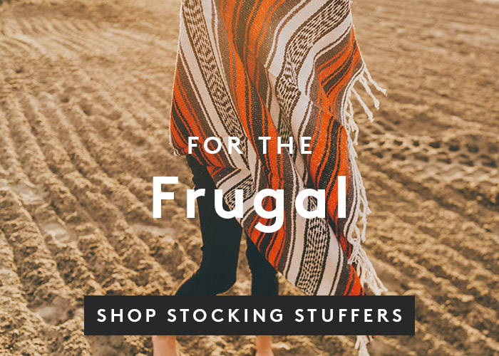 For the Frugal. Shop Stocking Stuffers.
