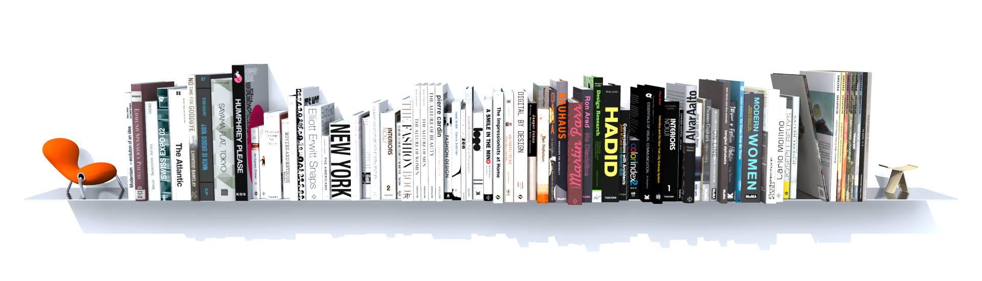 etagere murale grands livres acier inoxydable