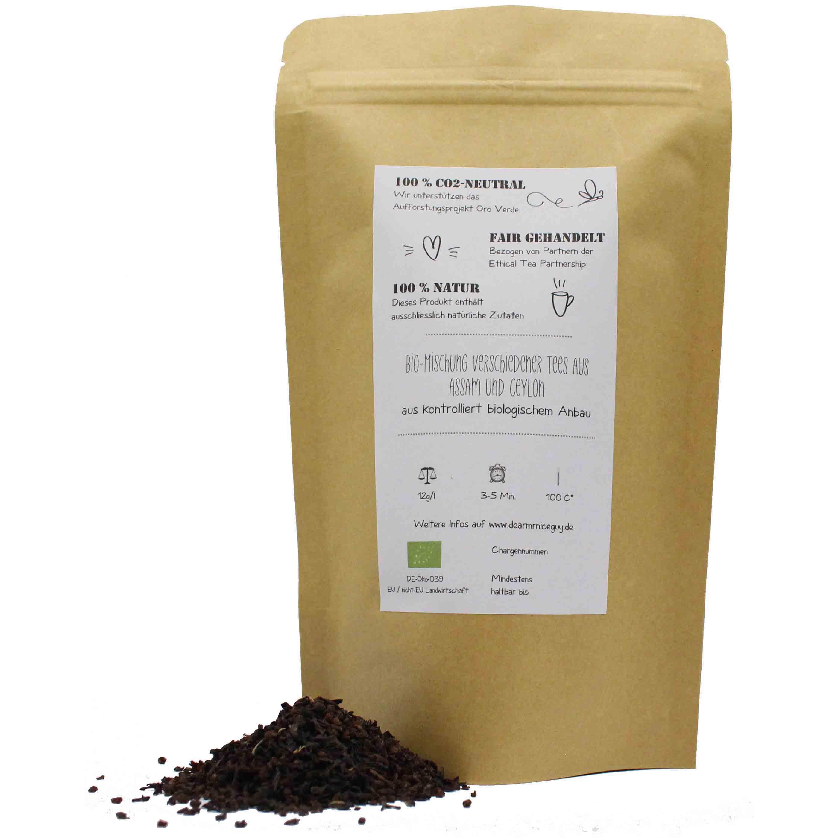 Bio Schwarztee lose 75g, nachhaltig, CO²-Neutral, fair