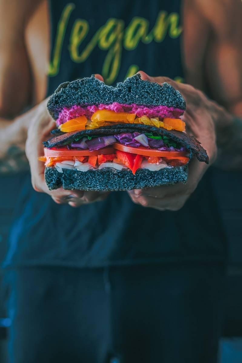 A vegan burger