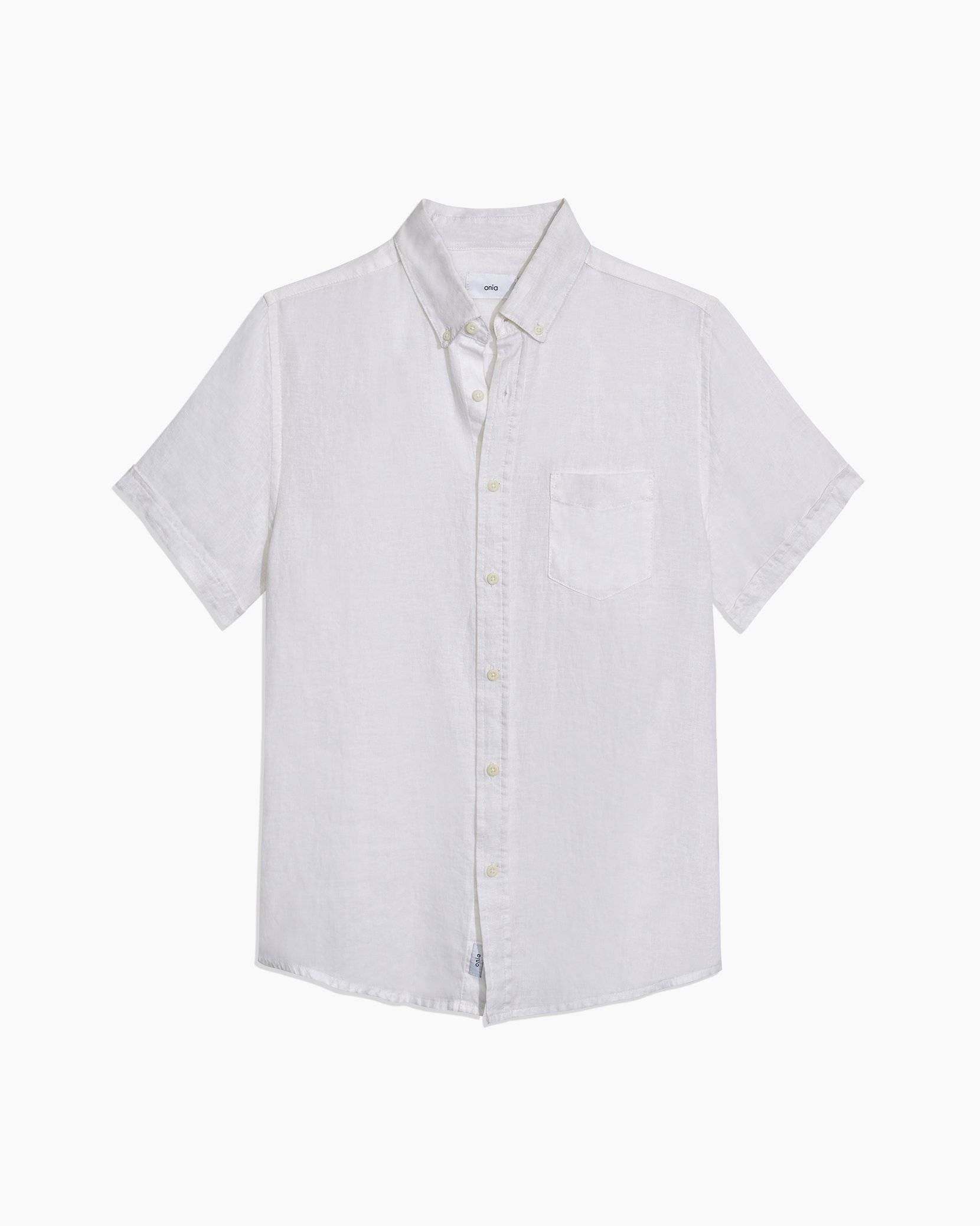Stretch Linen Short Sleeve Shirt