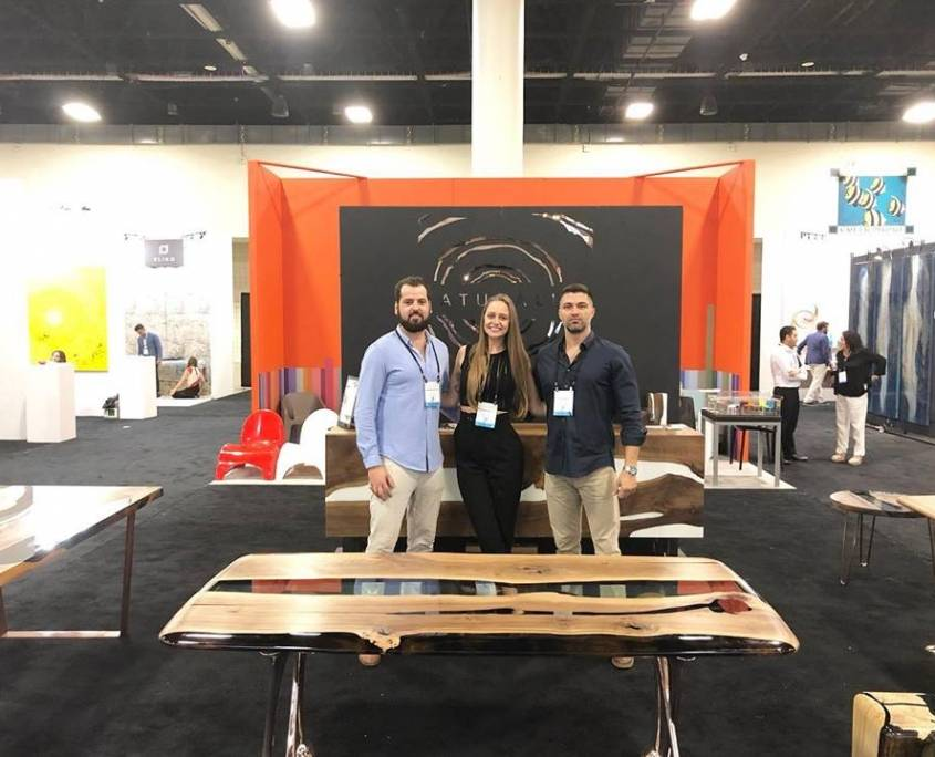 Naturalist High-End Wood Furniture Exhibit at ICFF South Florida
