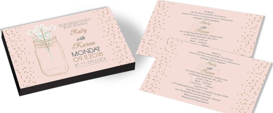 Garden Style Wedding Invitations