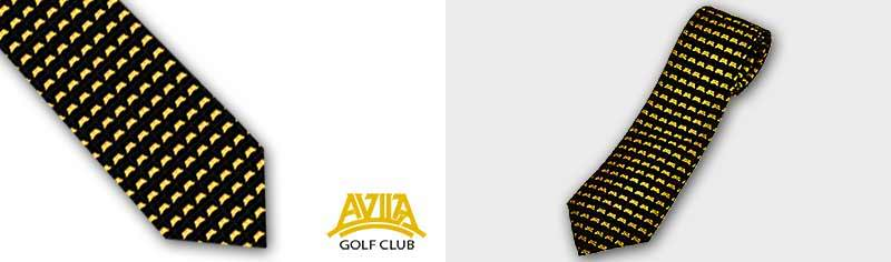 Clubcustom logo ties - Polyestertwill