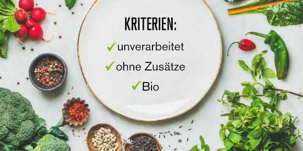 Kriterien Clean Eating