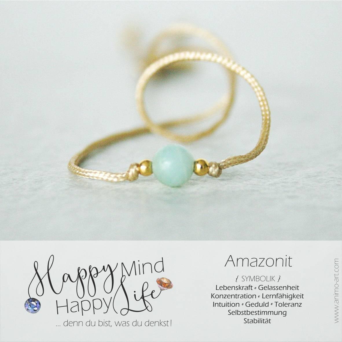 Amazonit Bedeutung, Schmuck mit Amazonit-Armband in blau, hellblau, , Happy Mind Happy Life