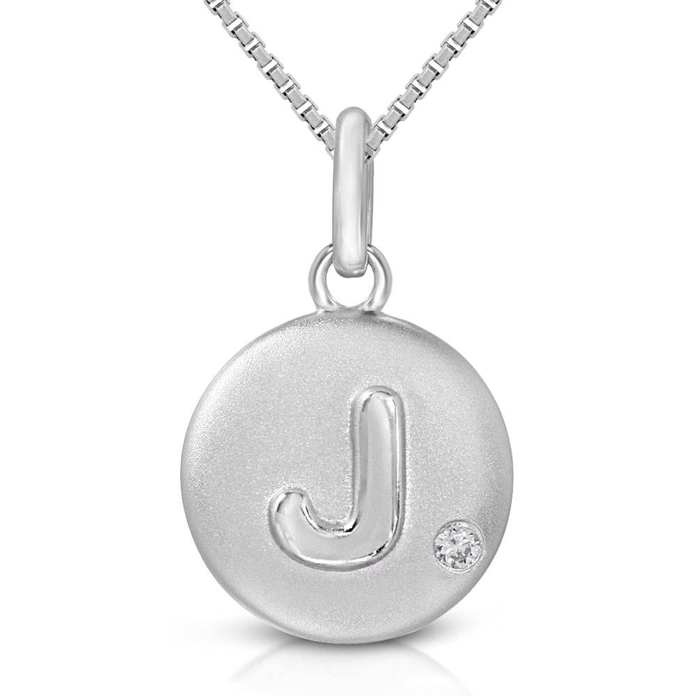 Pure at Birth letter J pendant with greek box necklace