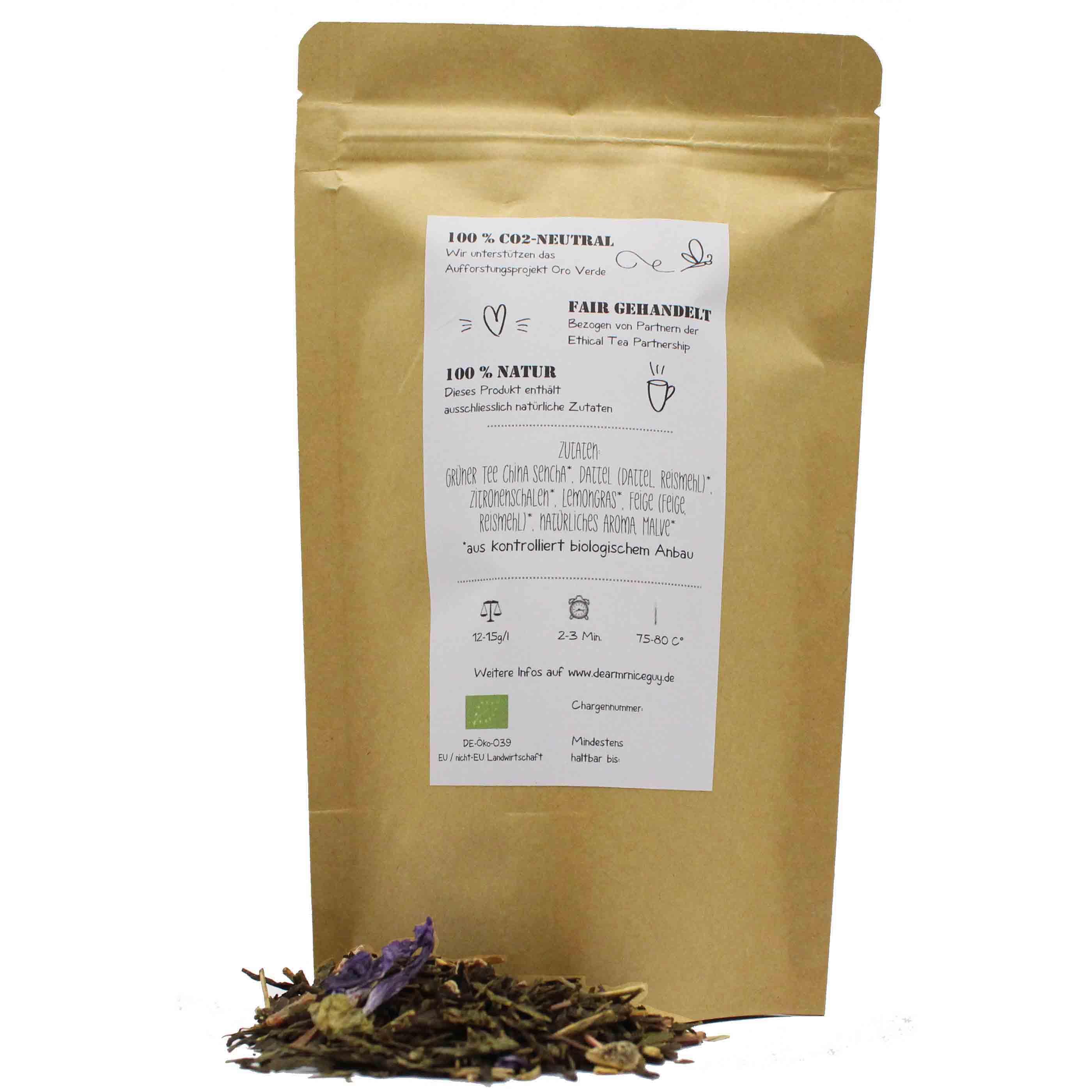 Grüner Bio Tee Verpackung