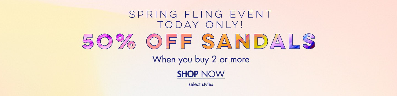 50% Off Sandals