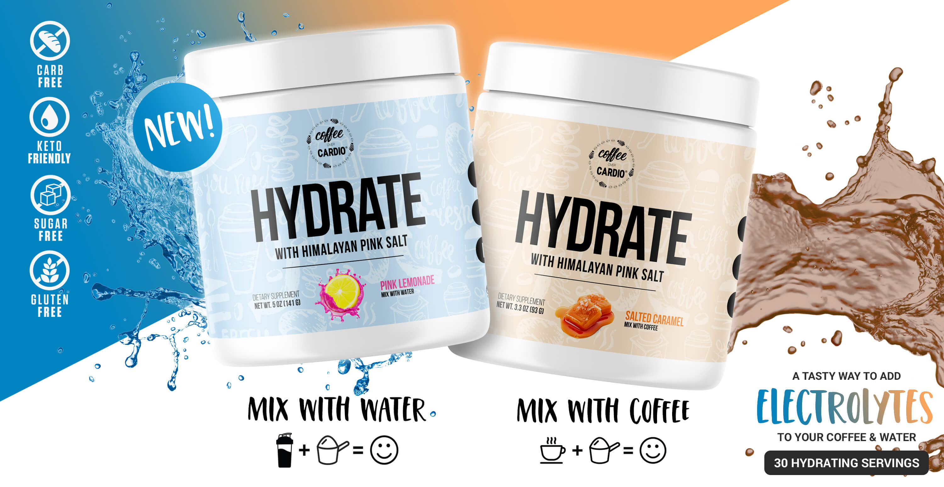 Hydrate - Electrolyte For Your Coffee - Salted Caramel - Coffee Over Cardio