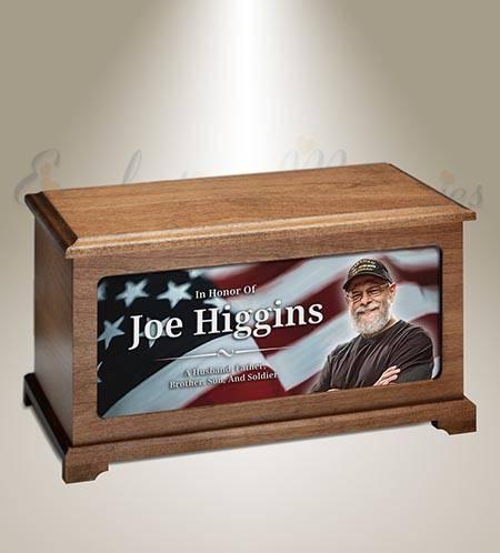 Veteran Photo Funeral Urn