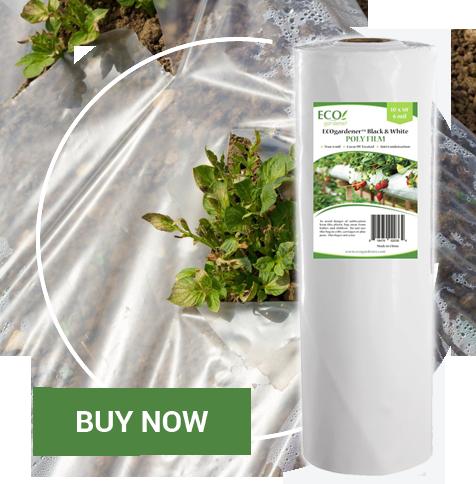 Ecogardener greenhouse plastic sheeting